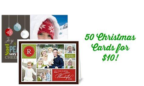 Christmas Gift Card Deals - christmas card deal 50 christmas cards for 10 on groupon southern savers