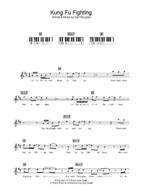 printable lyrics to kung fu fighting carl douglas kung fu fighting sheet music at stanton s