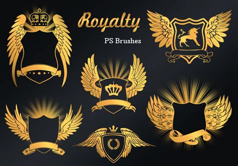 king crown brushes for photoshop 187 designtube creative 20 royalty emblem ps brushes abr vol 9 free photoshop