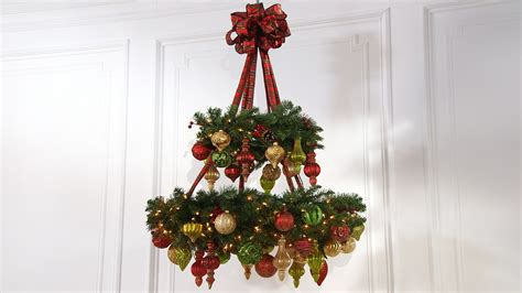 met chandelier christmas tree ornament ask martha how to make a wreath chandelier martha stewart