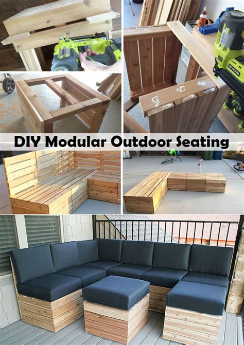 diy outside seating area diy modular outdoor seating for the home