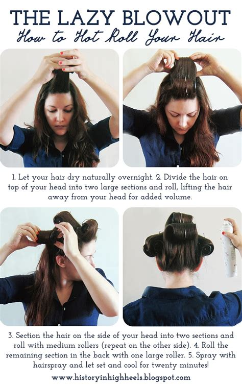 how to section hair for hot rollers history in high heels the lazy blowout how to hot roll