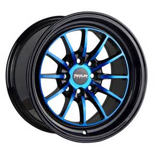 traklite wheels traklite chicane anodized blue with black