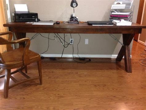 ana white long desk diy projects
