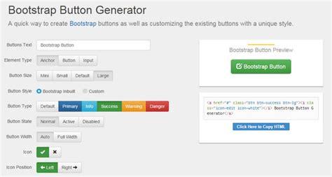 javascript bootstrap layout builder list of bootstrap button generators designmodo