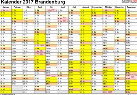 Kalender Brandenburg 2018 Kalender 2017 Brandenburg Ferien Feiertage Pdf Vorlagen