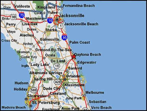 florida map of beaches florida east coast beaches map my