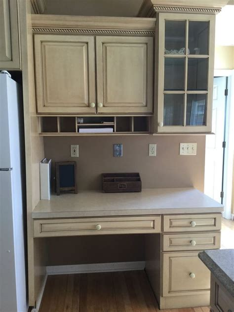 kitchen cabinet desk ideas 1000 ideas about kitchen desks on kitchen