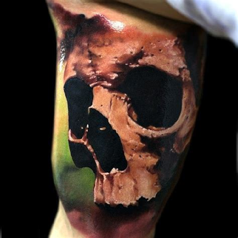 3d skull tattoo designs awesome realistic 3d skull design idea made by oleg