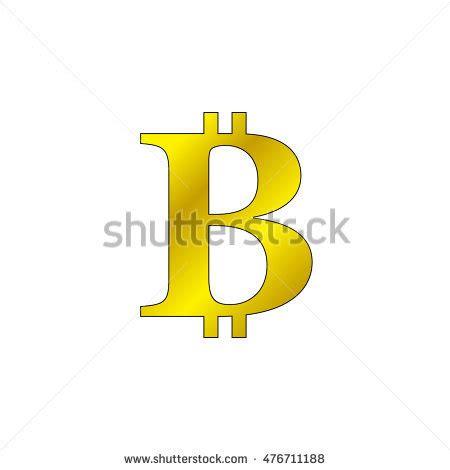 Transparent Bitcoin Sign Icon Vector Icon Stock Vector ... B