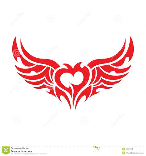 tattoo vector images heart tattoo vector stock photography image 28429712
