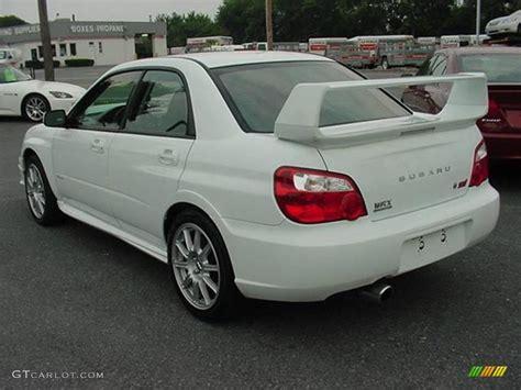 white subaru wrx aspen white 2005 subaru impreza wrx sti exterior photo