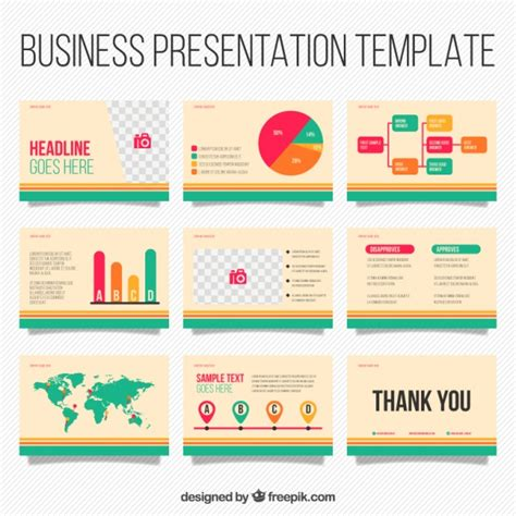template for business presentation business presentation template with infographic elements