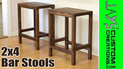 How To Make A Bar Stool Out Of Wood by How To Make 2x4 Half Bar Stools 166