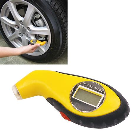 digital lcd car tire tyre air pressure gauge meter manometer barometers tester diagnostic tools