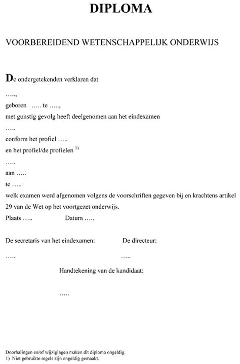 layout wetenschappelijk artikel wetten nl regeling regeling modellen diploma s vo