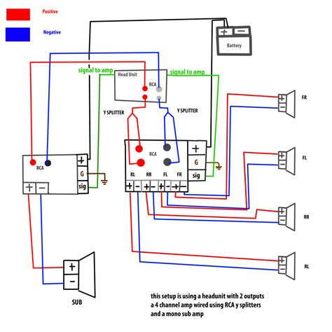 8 ohm 2 way speaker wiring diagram bridging 4 channel