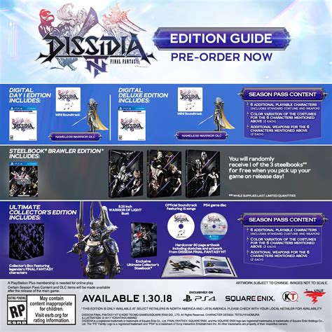 dissidia nt prima collector s edition guide books when is dissidia nt coming out