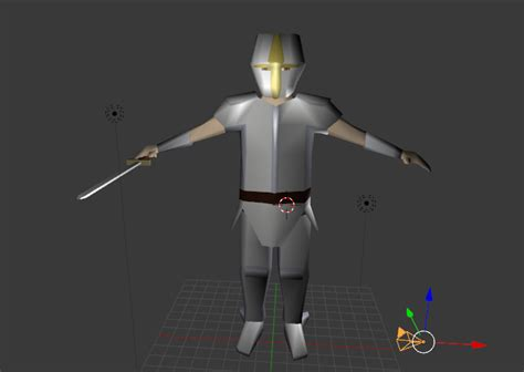 blender tutorial armor rpg low poly knight opengameart org