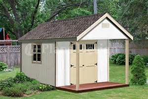 Shed With Porch Plans Free by 16 X 12 Cabin Shed Covered Porch Plans Plueprint P61612