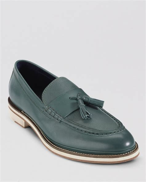 cole haan tassel loafers cole haan south leather tassel loafers in green for