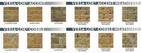 versa lok colors retaining wall block morelli bros block brick co inc