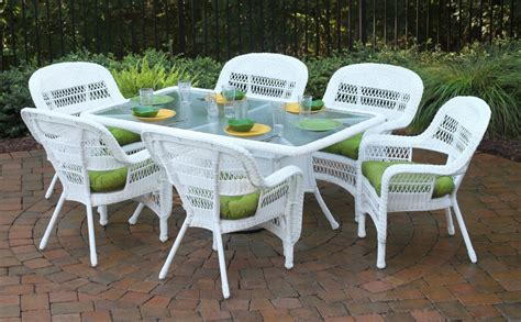 white patio furniture sets white wicker patio furniture