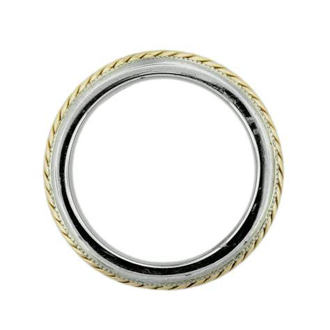 Two Tone Gold Wedding Band - 14k two tone gold rope design mens wedding band boca raton