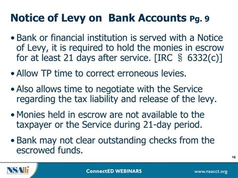 bank account levy ppt don t a seizure protecting your clients from
