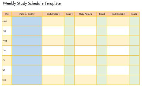 Study Hack Study Plan Template