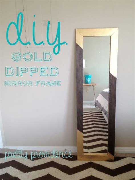 diy mirror diy mirror frame gold dipped pretty providence