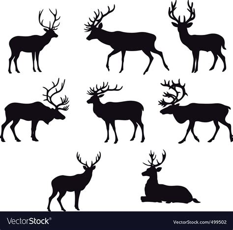 deer silhouettes royalty  vector image vectorstock