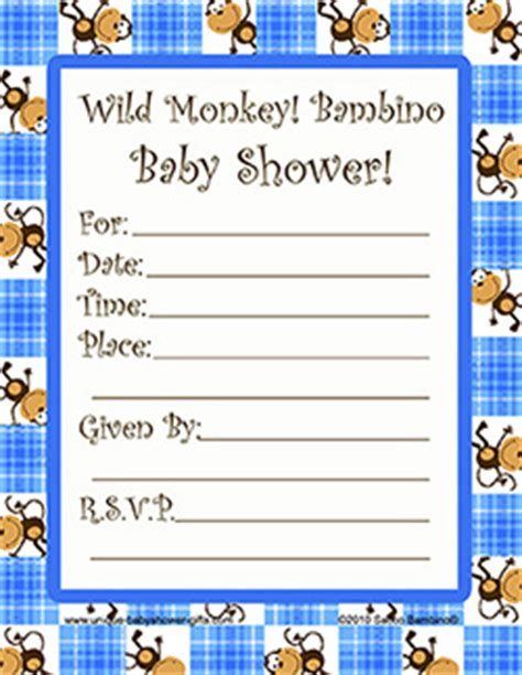 monkey baby shower invitations printable free printable baby shower invitations monkey theme www proteckmachinery