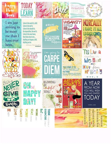 printable mini quotes i love mini albums 2016 new year freebie stickers for