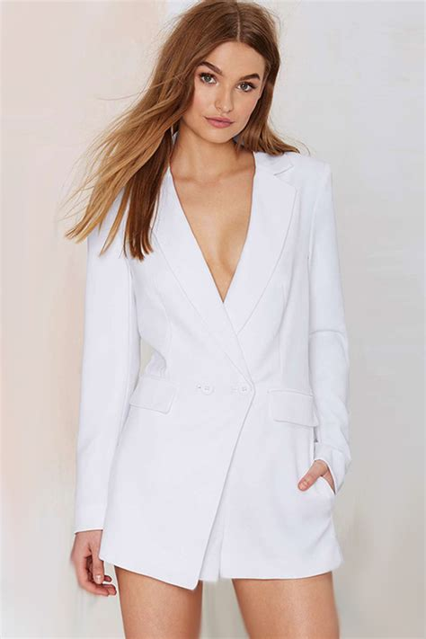 Set Sleeveless Playsuit Camisole white v neck lapel blazer romper 020908