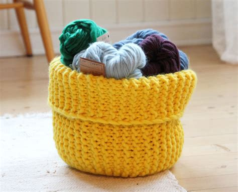 Knit These Handy Storage Baskets Free Pattern The
