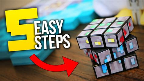 How To Make A Rubix Cube Out Of Paper - custom minecraft diy rubik s cube tutorial
