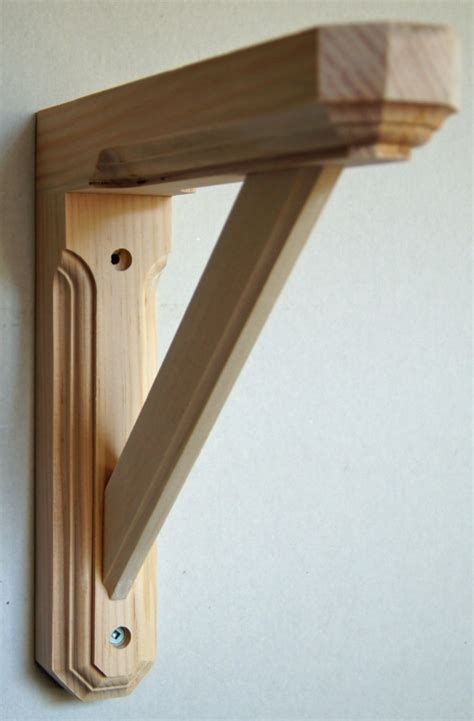 Shelf Bracket Wood by Solid Pine Wood Wall Shelf Bracket Hexagonal Ends