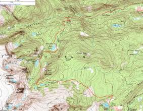 topographic map of topographic map of the fern lake trail rocky mountain
