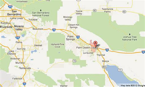 california map indio chp officers shoot westbound interstate 10 closed in