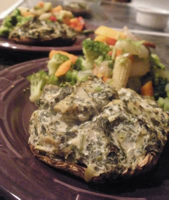 7g carbohydrates vegan strong vegan spinach and artichoke stuffed mushrooms