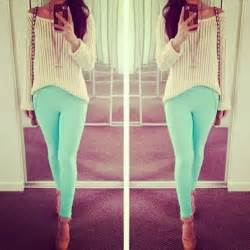 mint pants summer look spring teen fashion cute