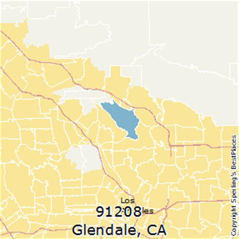 zip code map glendale ca best places to live in glendale zip 91208 california