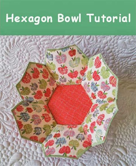 pattern for fabric bowls hexagonal fabric bowl free sewing pattern