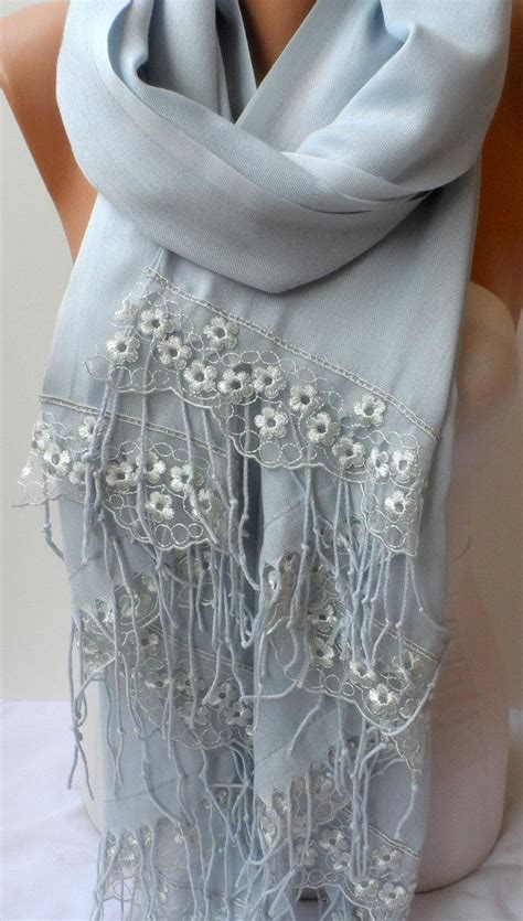 Pasmina Silver Foam 3 wedding shawls light gray pashmina shawls with silver gray lace dainty lightweight so