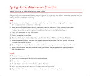 home repair checklist template printable blank daily checklist