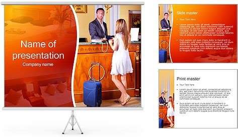 templates powerpoint hotel hotel check in powerpoint template backgrounds id