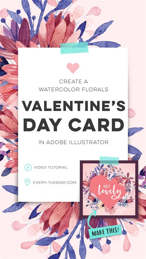 adobe illustrator s day card template create a watercolor florals s day card in adobe