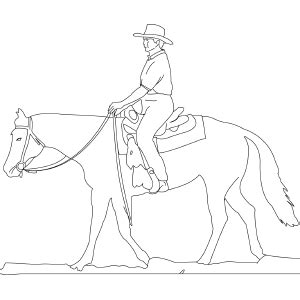 coloring pages horse and rider coloring page of western horse and rider dave makeover