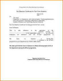 Memo Sle Letter To Employees No Objection Letter Format For Employer The Letter Sle